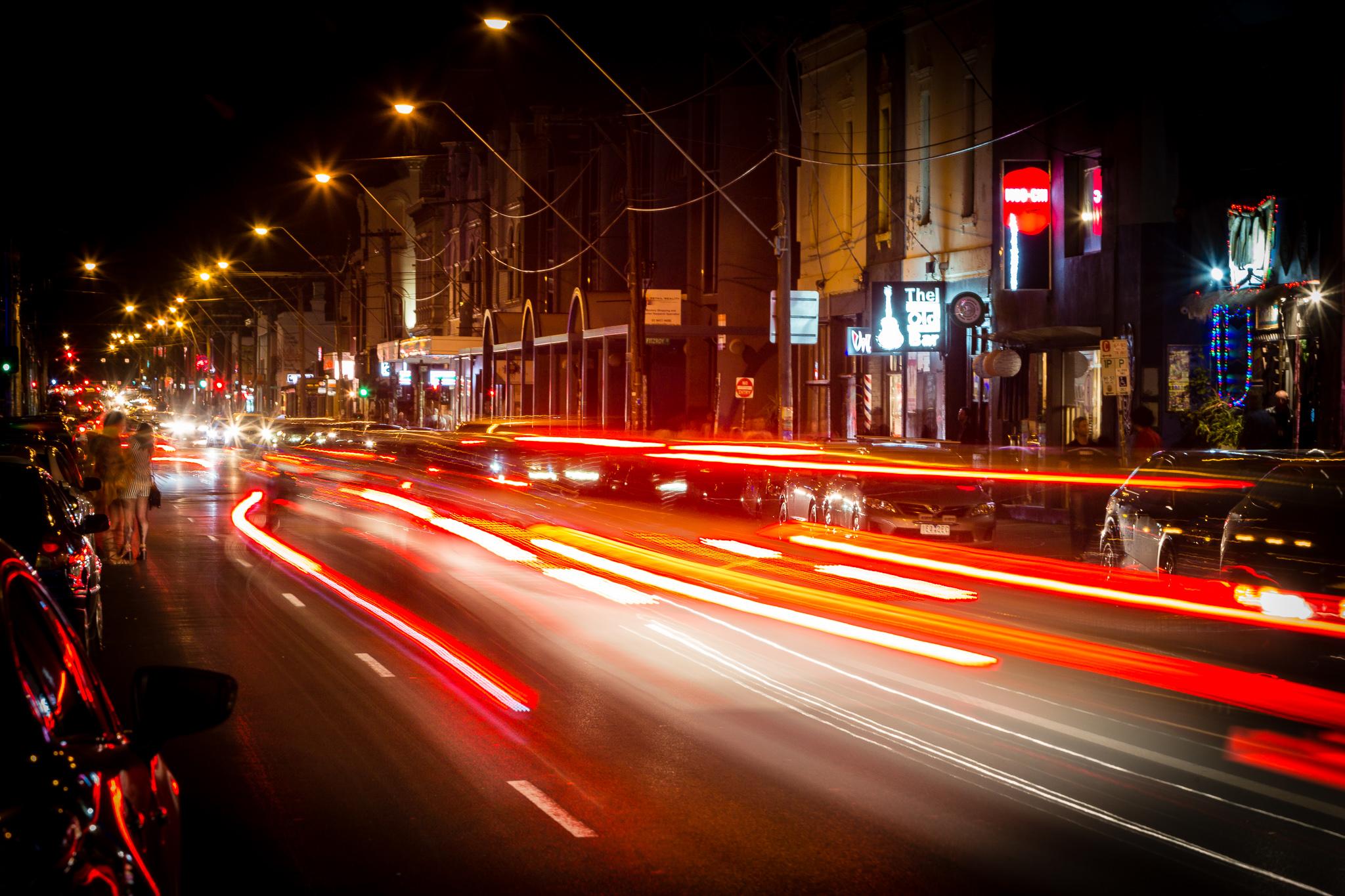 Johnston St at night
